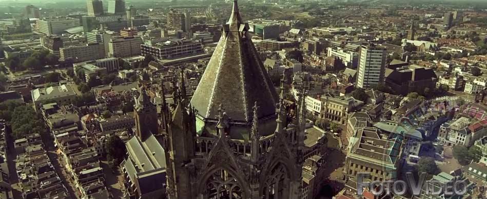 Beelden drone in Utrecht